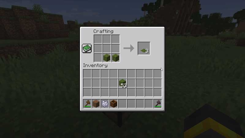 how to make moss blocks minecraft