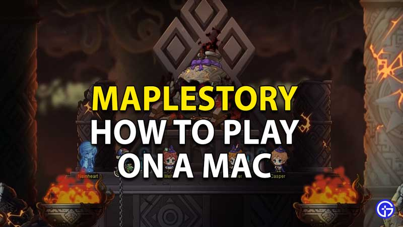 how to play maplestory on a mac