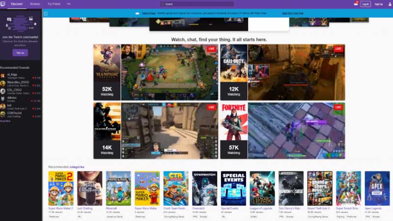Twitch multiple streams