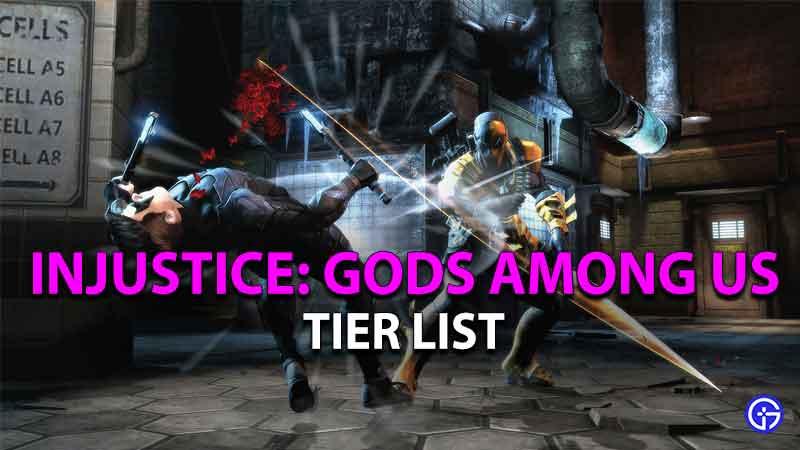 injustice gods among us tier list