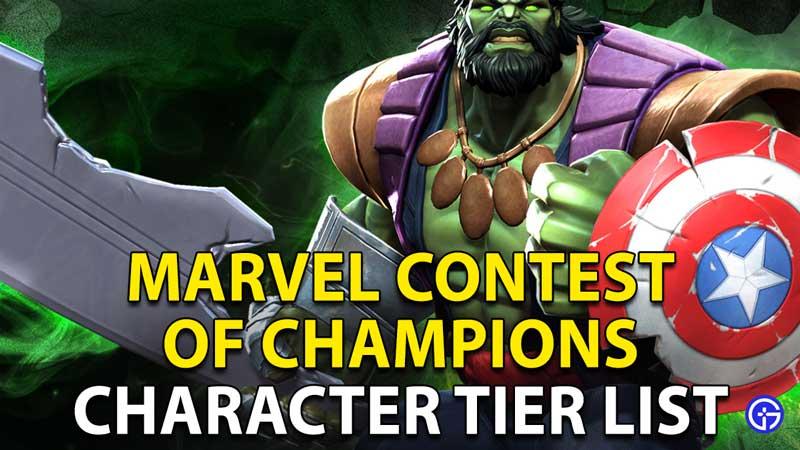 Marvel Contest Of Champions (MCOC) Tier List