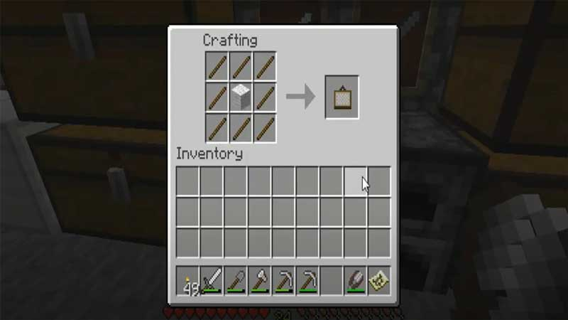 minecraft crafting a painting