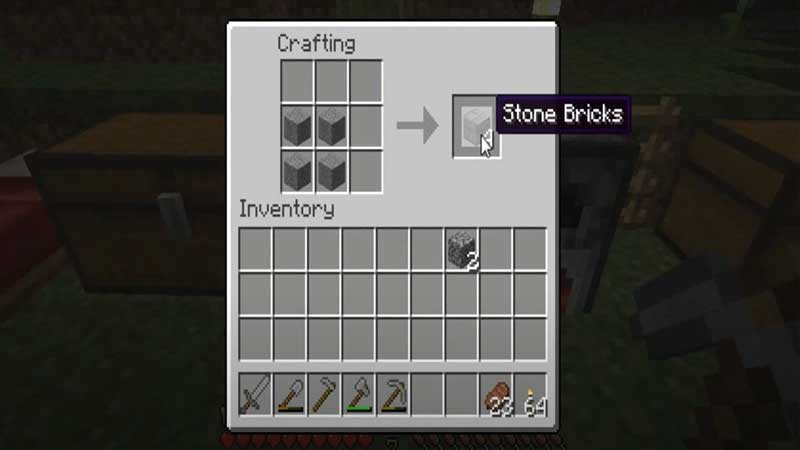 minecraft crafting stone bricks