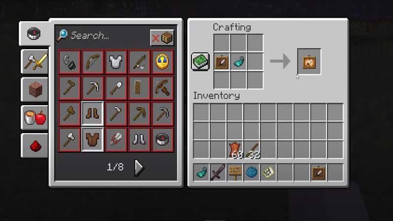 minecraft glow inc sac frame