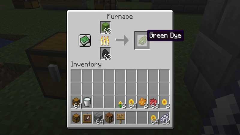 minecraft green dye furnace