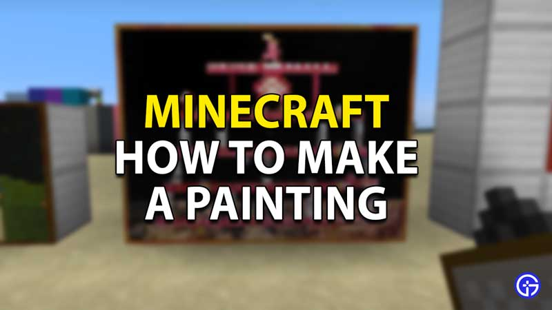 minecraft how to make a painting