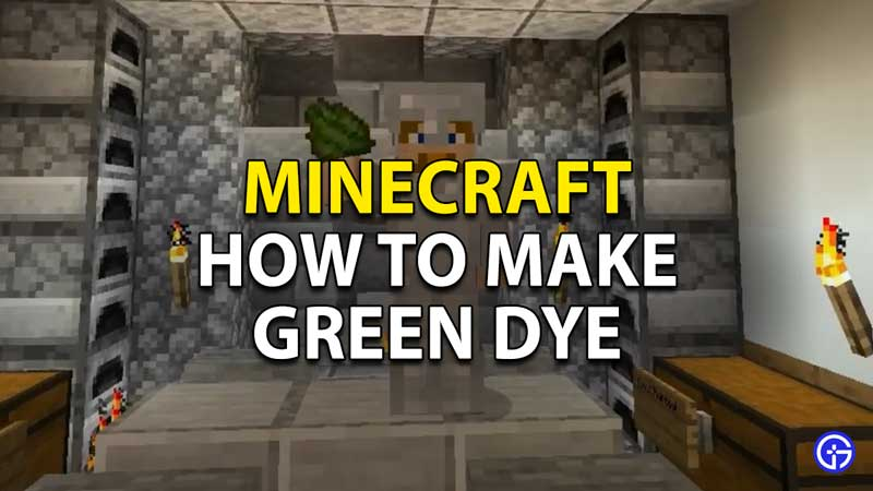 minecraft how to make green dye