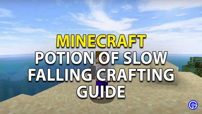 minecraft potion of slow falling crafting guide