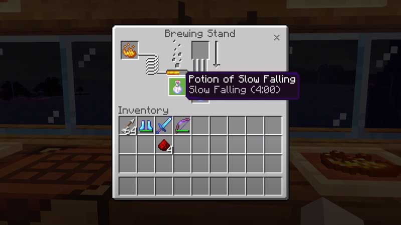 minecraft potion of slow falling