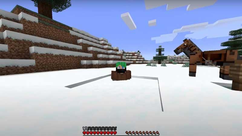minecraft powder snow trap