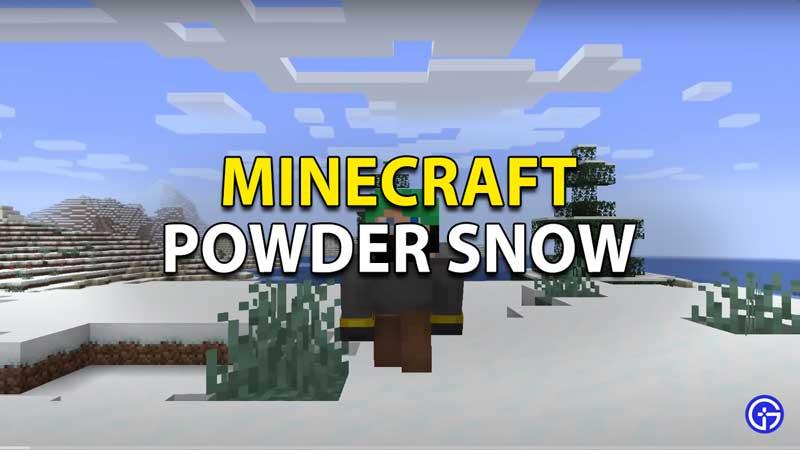 minecraft powder snow