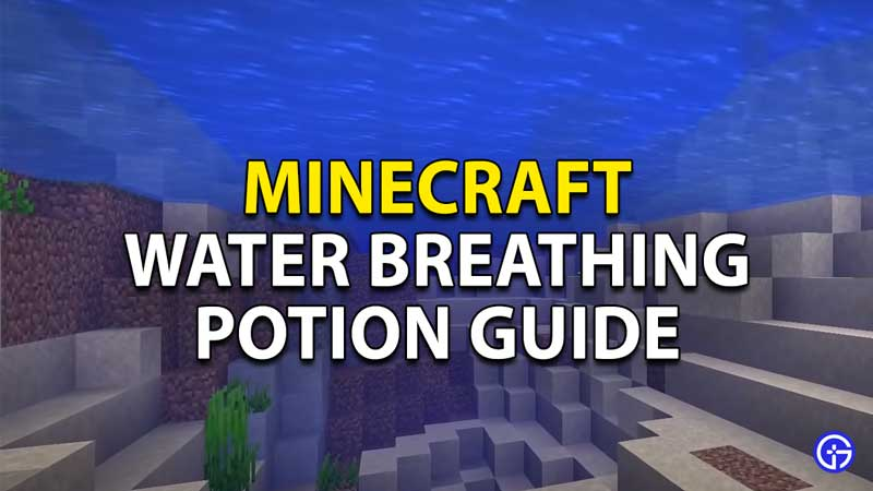 minecraft water breathing potion guide