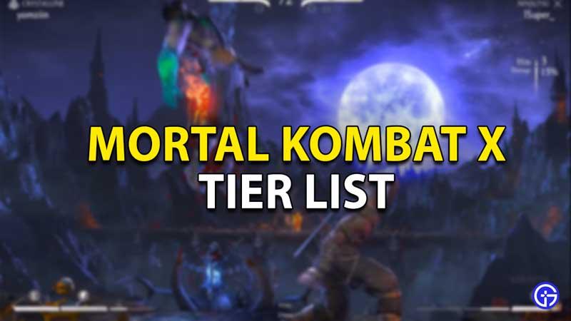 mortal kombat x tier list 2021
