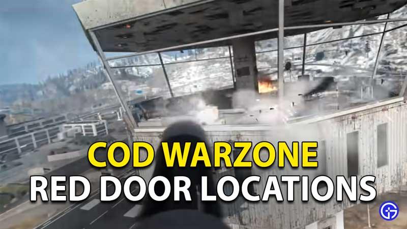Red Door Locations Warzone: How To Use Red Door Portals
