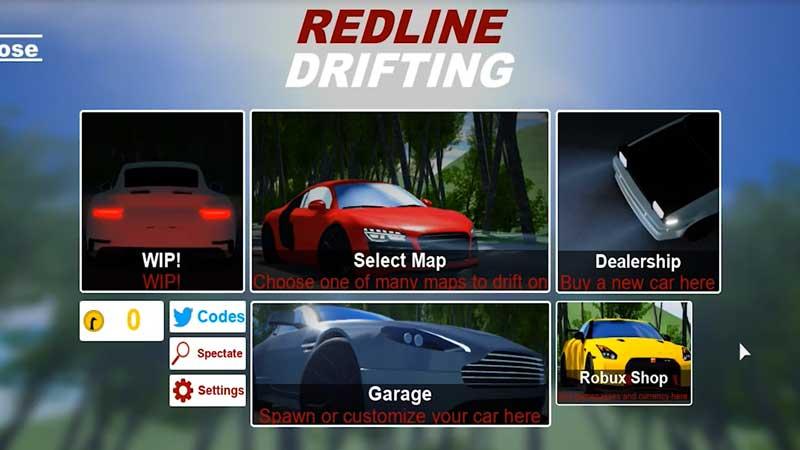 Redeem Redline Drifting Codes Roblox