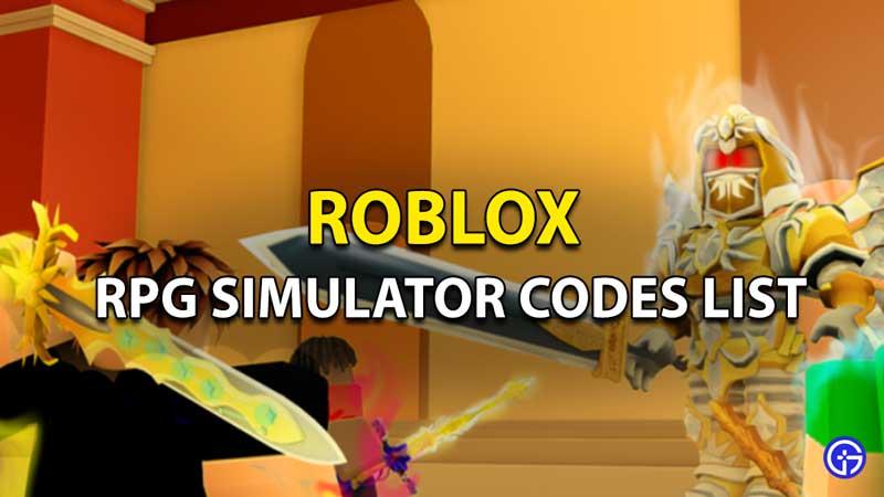 Redeem RPG Simulator Codes Roblox