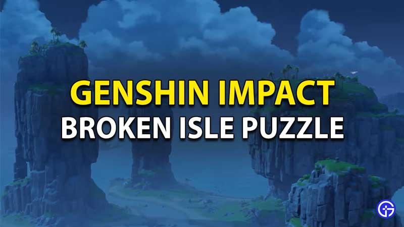 Genshin Impact Rock Sound Puzzle - Broken Isle Solution