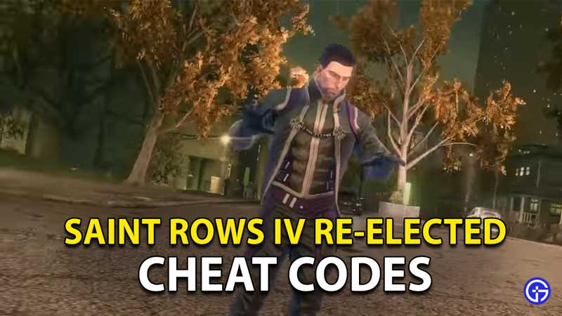 Saints Row IV: Re-Elected Cheat Codes