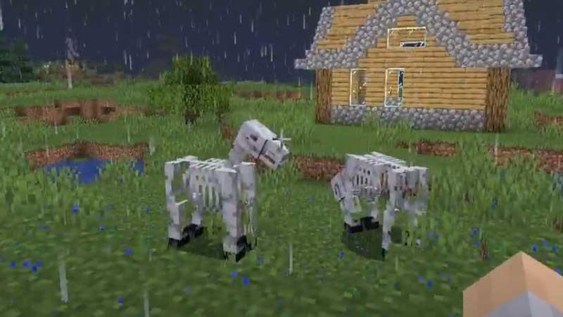 skeleton horse minecraft