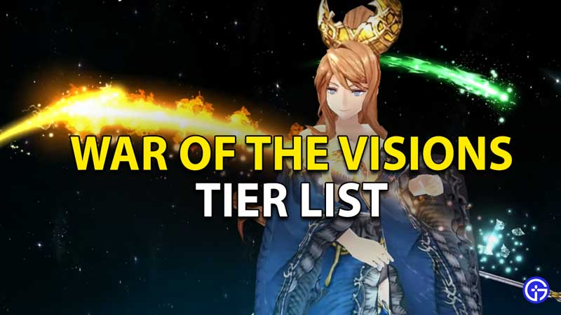 war of the visions tier list