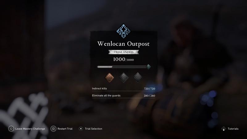 AC Valhalla Wenlocan Outpost Wolf Mastery Challenge