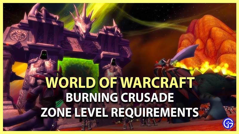 world of warcraft the burning crusade zone level