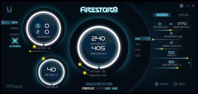 Zotac RTX 3080 Amp Solo Firestorm