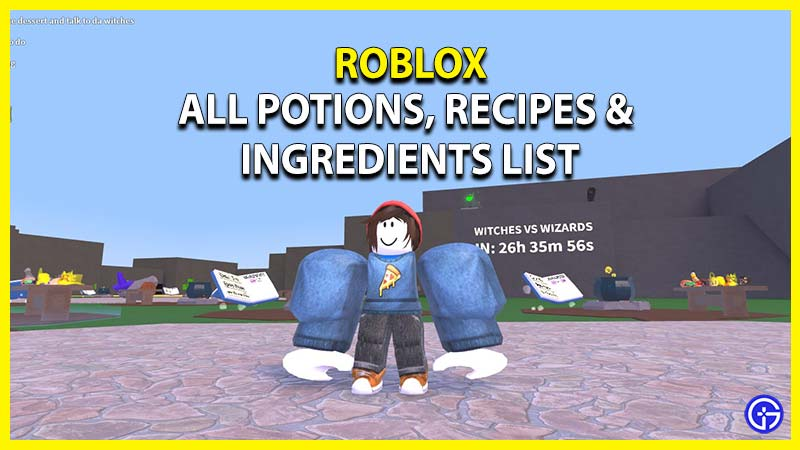all potions recipes ingredients list wacky wizards