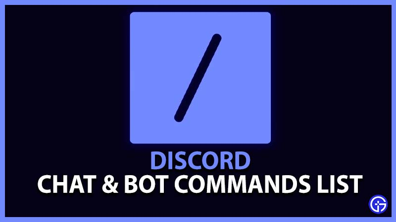 Discord Chat & Bot Commands