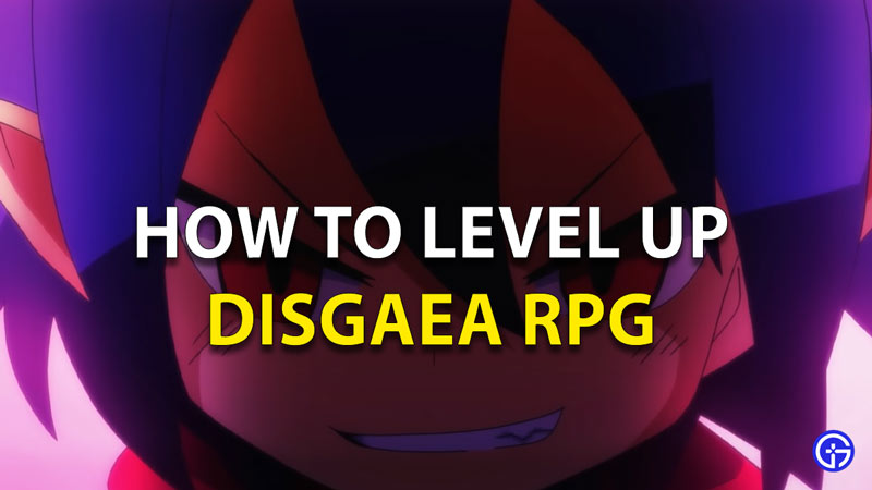 Disgaea RPG How To Level Up