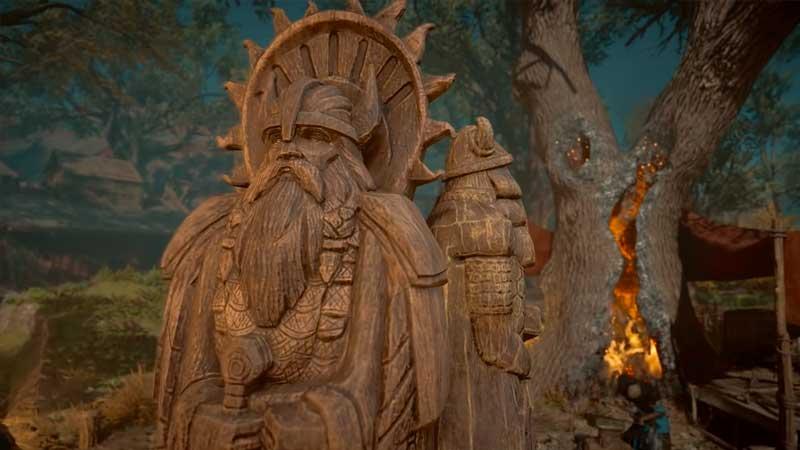 Help Thyra With the Sacrifice in AC Valhalla Sigrblot Festival
