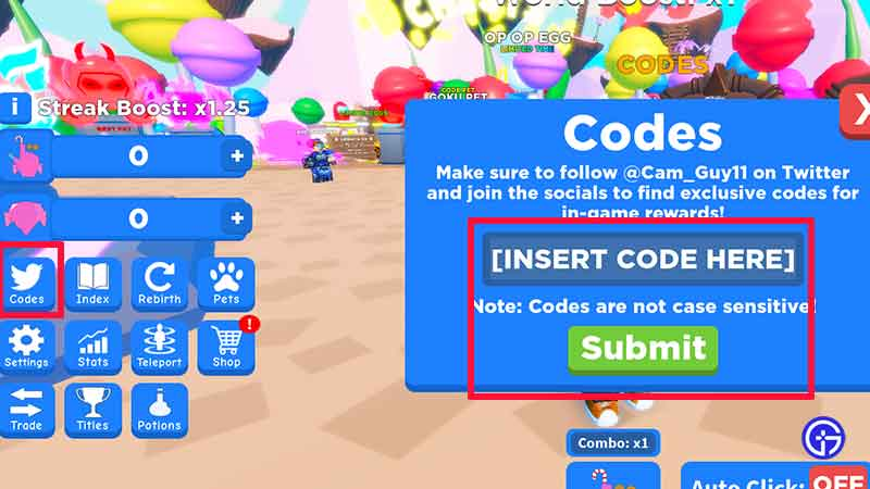 How Do I Redeem Codes in Roblox Candy Clicking Simulator