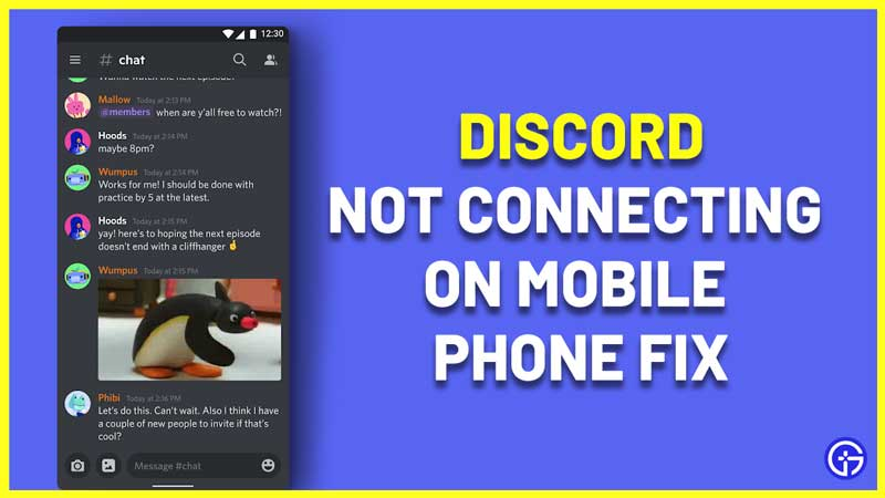 Discord Not Connecting Mobile Fix