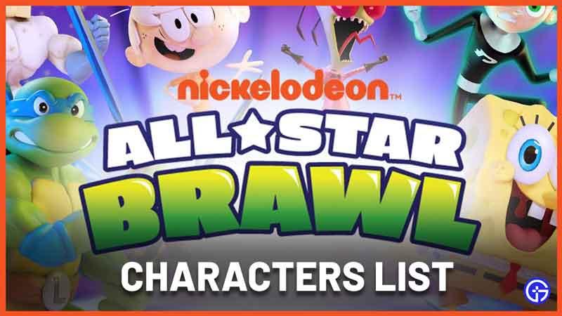 Nickelodeon All Star Brawl Character List