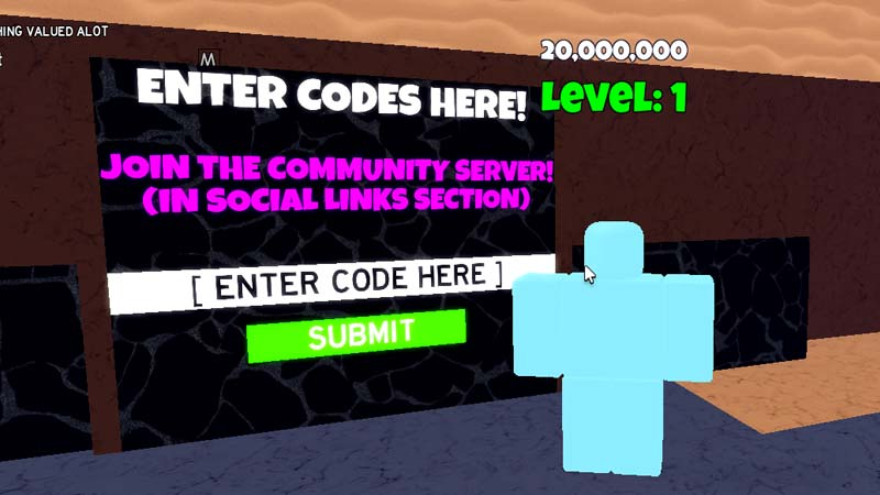 Redeem Codes in Clicker Frenzy Roblox