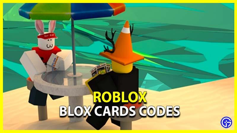 Roblox Blox Cards Codes