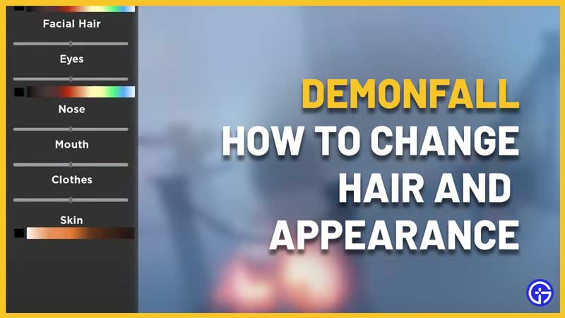 roblox demonfall how to change hair and appearance