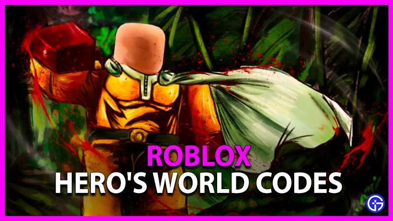 Roblox Hero's World Codes