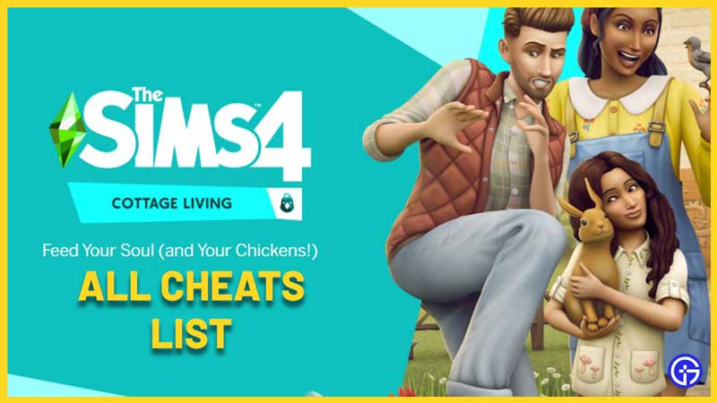 sims 4 cottage living cheats