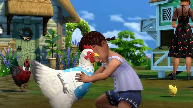 sims 4 cottage living chicken disappeared after Finchwick Fair