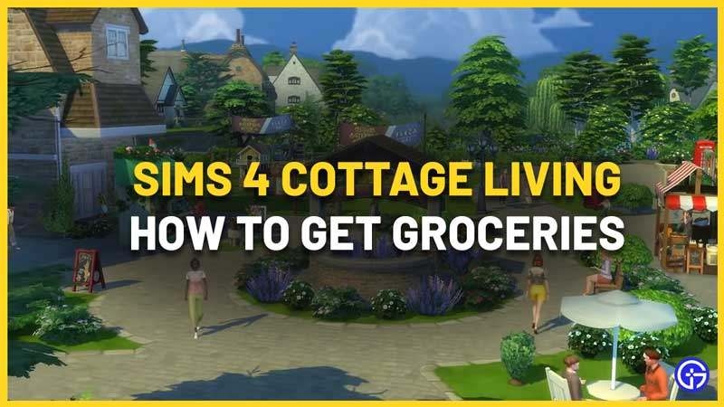 Sims 4 Cottage Living: How To Get Groceries Like Sugar, Flour
