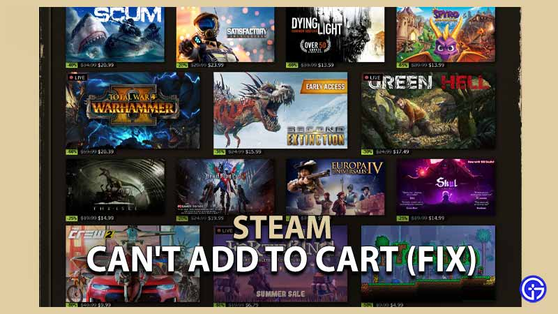 Steam Can't Add to Cart