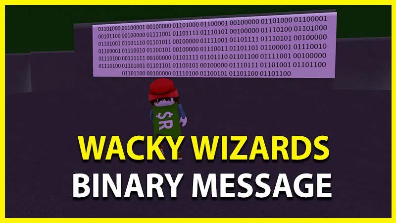 wacky wizards binary translator code message