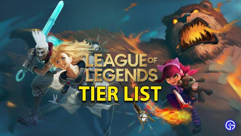 ARAM Tier List League Of Legends