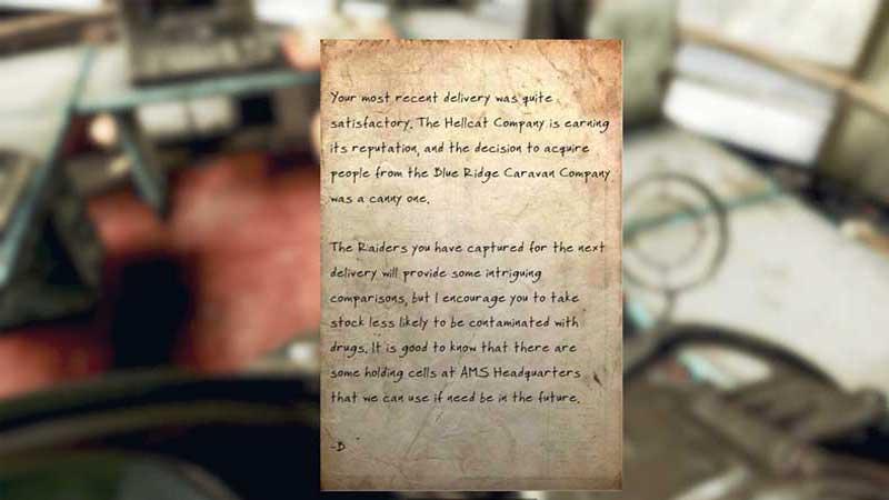 b letter fallout 76