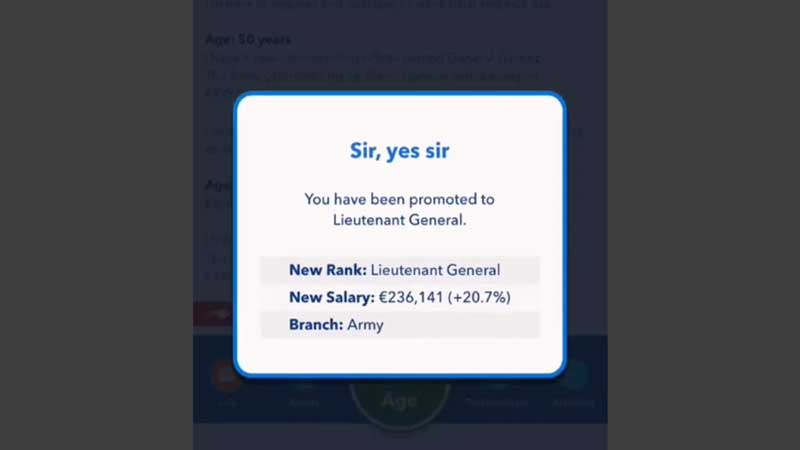 becoming a general in bitlife