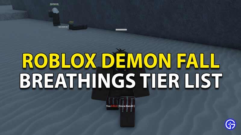 best breathings tier list roblox demon fall