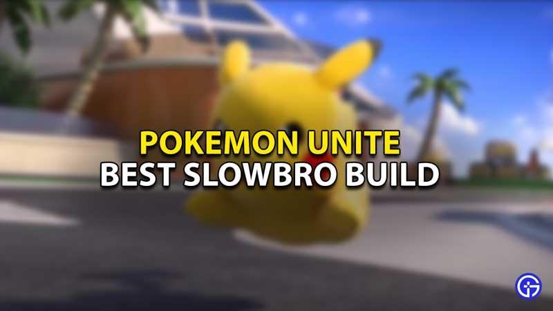 best slowbro build pokemon unite