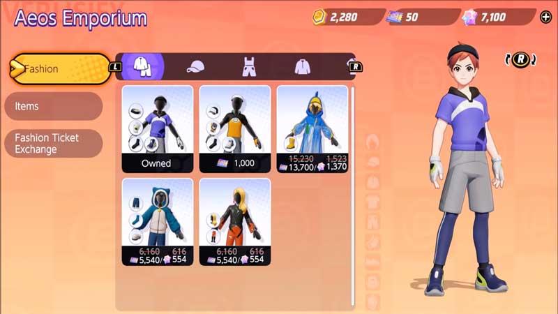 fashion tickets pokemon unite