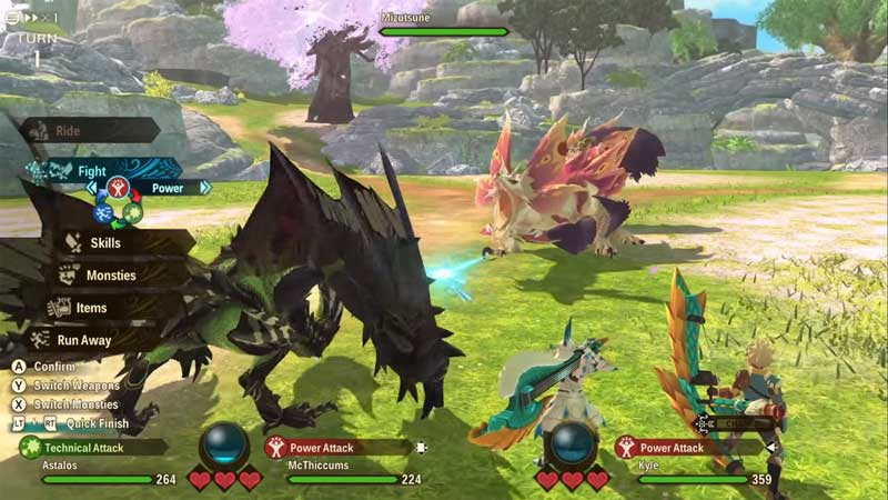 fight mizutsune monster hunter stories 2